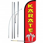 Karate Red Windless Swooper Flag Bundle