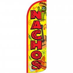 Nachos Yellow Red Windless Swooper Flag
