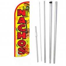 Nachos Yellow Red Windless Swooper Flag Bundle