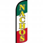 Nachos Yellow Red Green Windless Swooper Flag