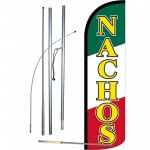 Nachos Yellow Red Green Windless Swooper Flag Bundle