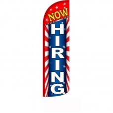 Now Hiring Red White Blue Windless Swooper Flag