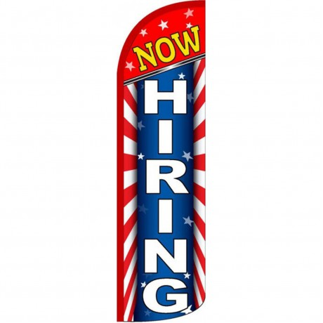 Now Hiring Patriotic Windless Swooper Flag