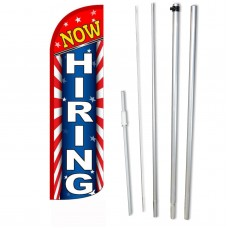Now Hiring Red White Blue Windless Swooper Flag Bundle