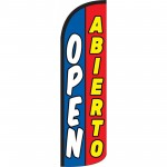 Open Abierto Blue Red Windless Swooper Flag