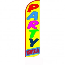 Party Rentals Yellow Windless Swooper Flag