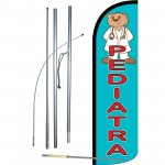 Pediatra Blue Windless Swooper Flag Bundle