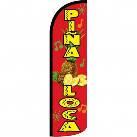 Pina Loca Windless Swooper Flag