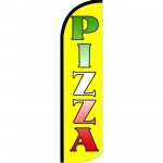 Pizza Yellow Neon Windless Swooper Flag