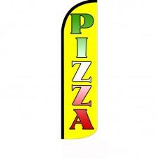 Pizza Neon Windless Swooper Flag