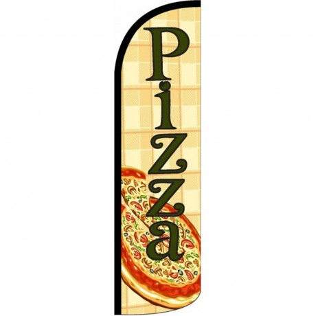 Pizza Pie Windless Swooper Flag