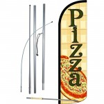Pizza Pie Windless Swooper Flag Bundle