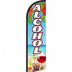 Alcohol Beach Graphic Windless Swooper Flag