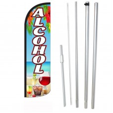 Alcohol Beach Graphic Windless Swooper Flag Bundle