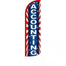Accounting Red White Blue Windless Swooper Flag