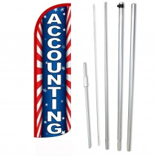 Accounting Red White Blue Windless Swooper Flag Bundle
