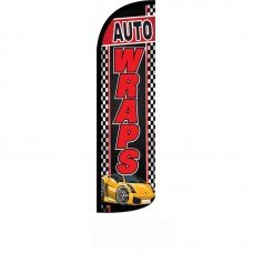 Auto Wraps Black Windless Swooper Flag