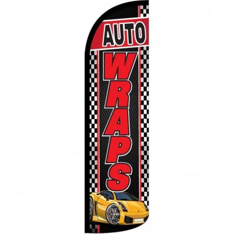 Auto Wraps Black Windless Swooper Flag