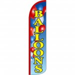 Balloons Blue Windless Swooper Flag