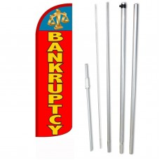 Bankruptcy Red Windless Swooper Flag Bundle