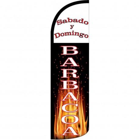 Sabado Y Domingo Barbacoa Windless Swooper Flag