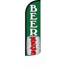 Beer Kegs Green Windless Swooper Flag