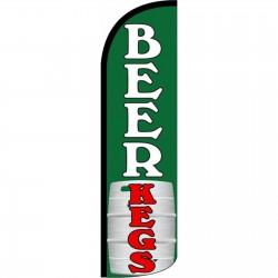 Beer Kegs Green Windless Swooper Flag