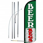 Beer Kegs Green Windless Swooper Flag Bundle