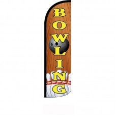 Bowling Wood Background Windless Swooper Flag