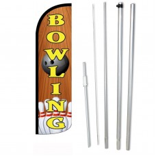 Bowling Wood Background Windless Swooper Flag Bundle