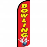 Bowling Red Windless Swooper Flag