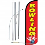 Bowling Red Windless Swooper Flag Bundle