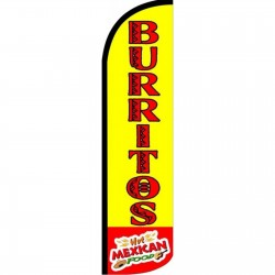 Burritos Yellow Red Windless Swooper Flag