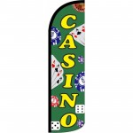 Casino Green Windless Swooper Flag
