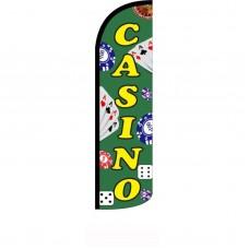 Casino Green Windless Swooper Flag