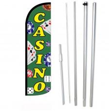 Casino Green Windless Swooper Flag Bundle