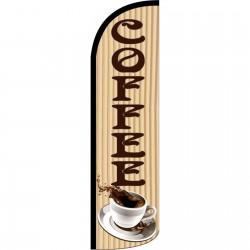 Coffee Beige Windless Swooper Flag