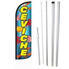 Ceviche Yellow Windless Swooper Flag Bundle