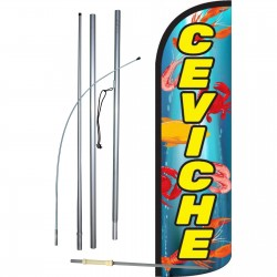 Ceviche Yellow Windless Swooper Flag Bundle