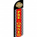 Pre-Owned Certified Red Black Windless Swooper Flag