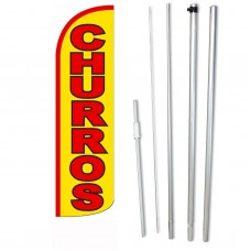 Churros Yellow Windless Swooper Flag Bundle
