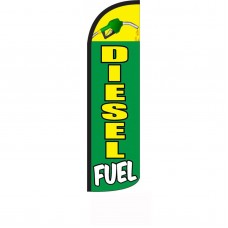 Diesel Fuel Green Yellow Windless Swooper Flag