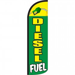 Diesel Fuel Green Windless Swooper Flag
