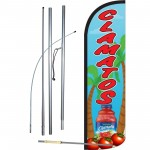 Clamatos Red Blue Windless Swooper Flag Bundle