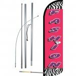 Fashion Zebra Pink Windless Swooper Flag Bundle
