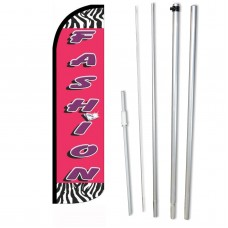 Fashion Zebra Pink Windless Swooper Flag Bundle