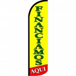Financiamos Yellow Green Windless Swooper Flag