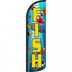 Fish Ocean Graphic Windless Swooper Flag