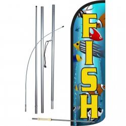 Fish Ocean Graphic Windless Swooper Flag Bundle