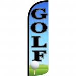 Golf With Ball Windless Swooper Flag